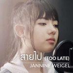 คอร์ดเพลง สายไป (Too Late) - พลอยชมพู Jannine W